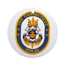 USS Connecticut SSN 22 Ornament (Round)