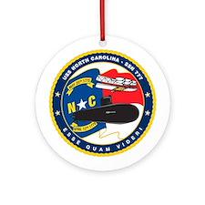 USS (PCU) North Carolina SSN 777 Ornament (Round)