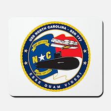 USS (PCU) North Carolina SSN 777 Mousepad