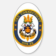 USS Connecticut SSN 22 Oval Decal