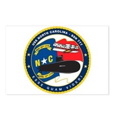 USS North Carolina SSN 777 Postcards (Pk of 8)