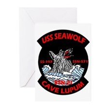 USS Seawolf SSN 21 Greeting Cards (Pk of 10)
