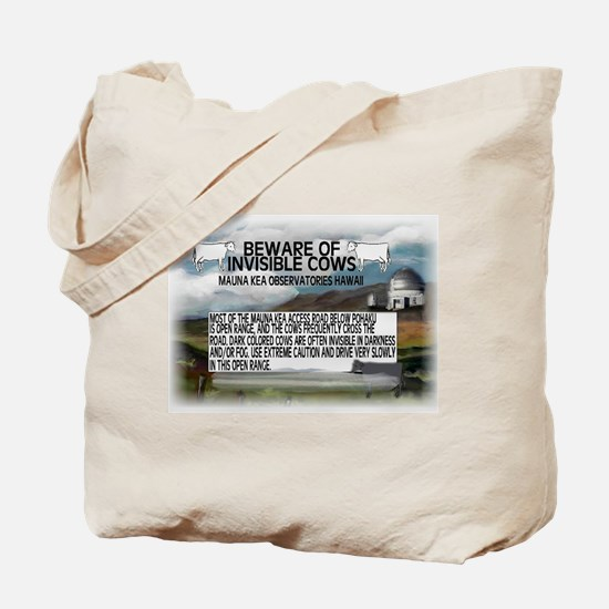 Invisible Cows Sign Tote Bag