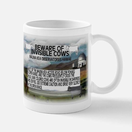 Invisible Cows Sign Mug