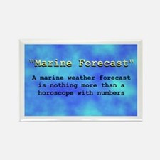 """Marine Forecast"" Rectangle Magnet"