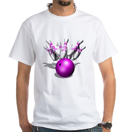 Strike Against Breast Cancer, White T-Shirt