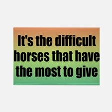 Difficult Horses Rectangle Magnet