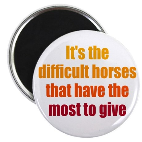"""Difficult Horses 2.25"""" Magnet (100 pack)"""