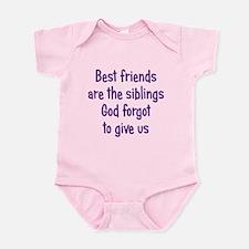 God and Best Friends Infant Bodysuit