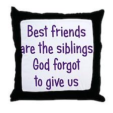 God and Best Friends Throw Pillow