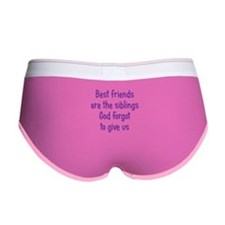 God and Best Friends Women's Boy Brief