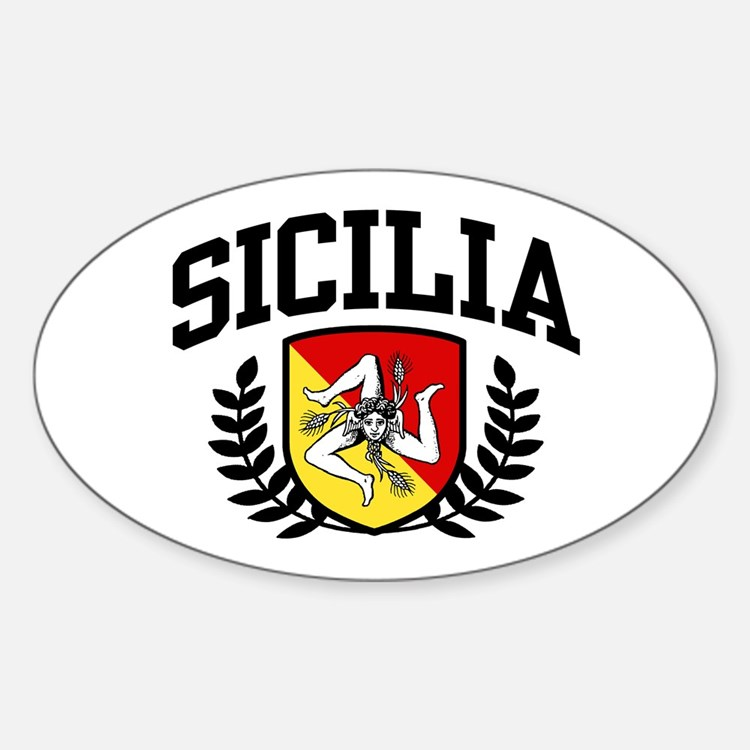 Sicilia Sticker (Oval)