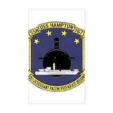 USS Hampton SSN 767 Rectangle Decal