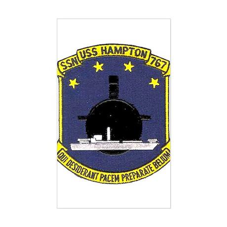 USS Hampton SSN 767 Rectangle Sticker