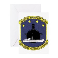 USS Hampton SSN 767 Greeting Cards (Pk of 10)