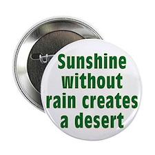 "Sunshine Without Rain 2.25"" Button"