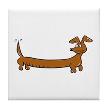 Doxie - Dachshund Cartoon Tile Coaster