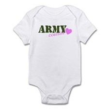 Army Cousin Green & Heart Infant Creeper