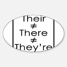 Cute Bad grammar Sticker (Oval)