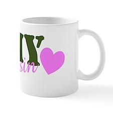 Army Cousin Green & Heart Mug