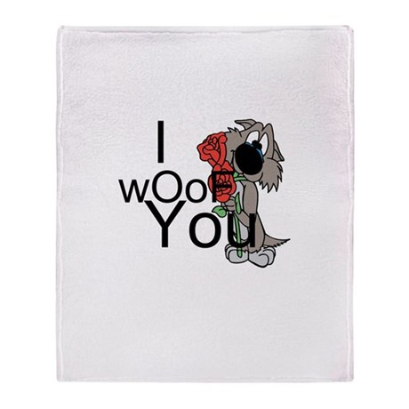 I woof you Throw Blanket