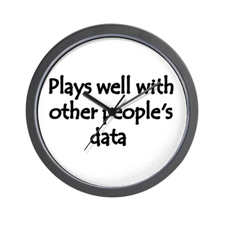 Plays well with other people's data Wall Clock