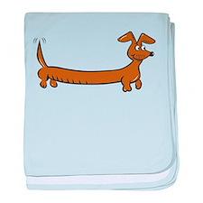 Doxie - Dachshund Cartoon baby blanket
