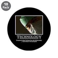 "EMR Technology 3.5"" Button (10 pack)"