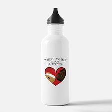 Wheek, Wheek means I LoveYou Water Bottle