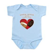 Wheek, Wheek means I LoveYou Infant Bodysuit