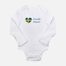 Swede-Heart Long Sleeve Infant Bodysuit