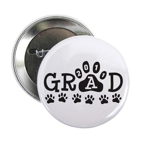 "Grad 2011 Paws 2.25"" Button (100 pack)"