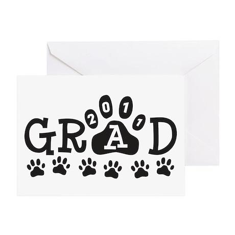 Grad 2011 Paws Greeting Card