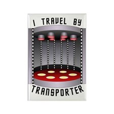 I Travel by Transporter Rectangle Magnet