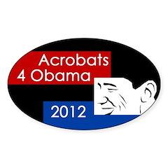 Acrobats for Obama 2012 bumper sticker