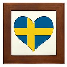 Flag in Heart Framed Tile Trivet
