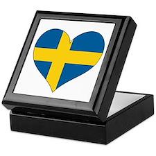 Flag in Heart Keepsake Box