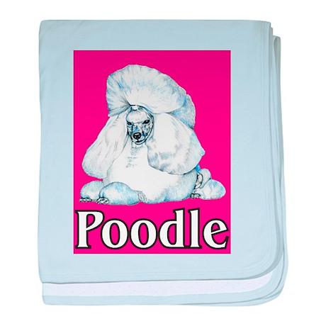 Pink Pop Poodle baby blanket