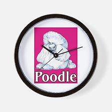 Pink Pop Poodle Wall Clock