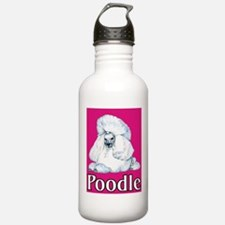 Pink Pop Poodle Water Bottle