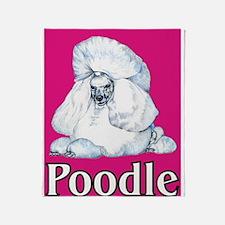 Pink Pop Poodle Throw Blanket