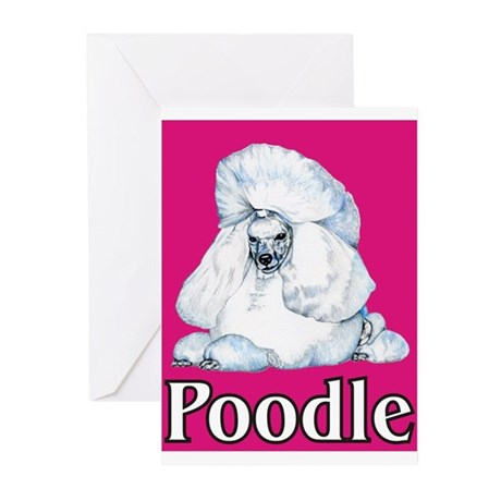 Pink Pop Poodle Greeting Cards (Pk of 10)