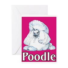Pink Pop Poodle Greeting Card