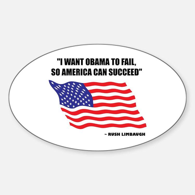 Cute Obama fail Sticker (Oval)
