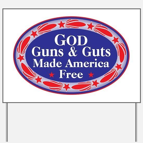 Unique God bless america Yard Sign