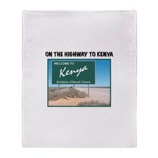 Funny Obama birther Throw Blanket