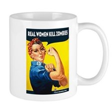Real Women Kill Zombies Mug