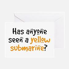 seen yellow submarine Greeting Card