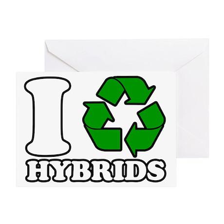 I Heart Hybrids Greeting Card