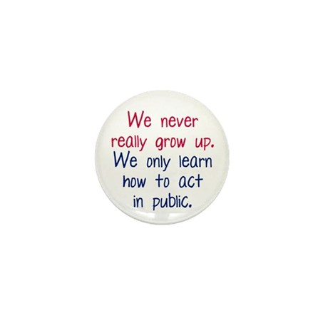 Growing Up Mini Button (100 pack)